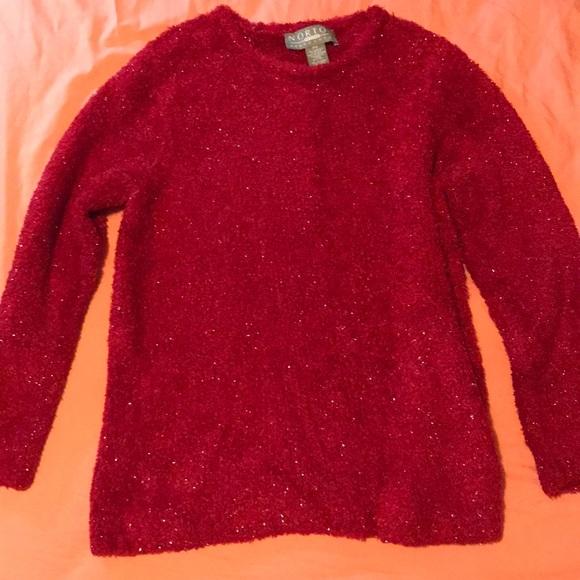 Norton McNaughton Sweaters - Norton McNaughton Cozy Shimmery Fleece Sweater